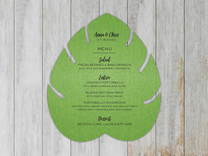 Monsterra Leaf Menu