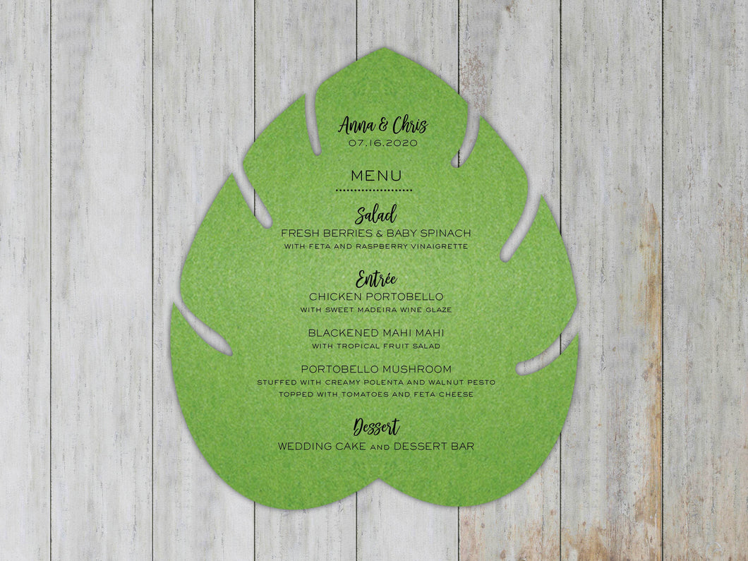 Monsterra Leaf Menu (Set of 20)