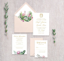 Load image into Gallery viewer, Royal Flamingo Invitation