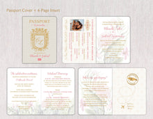 Load image into Gallery viewer, Royal Monogram Passport Invitation