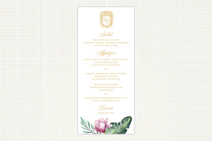 Royal Flamingo Menu