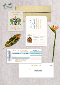 St. Lucia Coat of Arms Passport Invitation