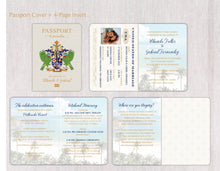 Load image into Gallery viewer, St. Lucia Coat of Arms Passport Invitation