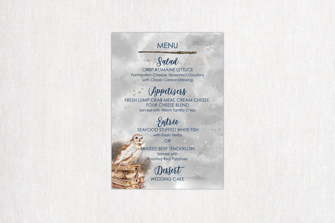 Mystical Owl Menu