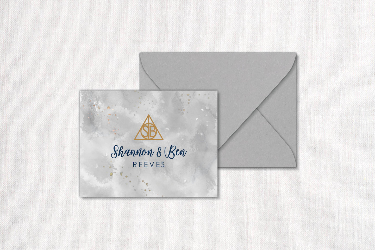 The Hallows Monogram Thank You Card