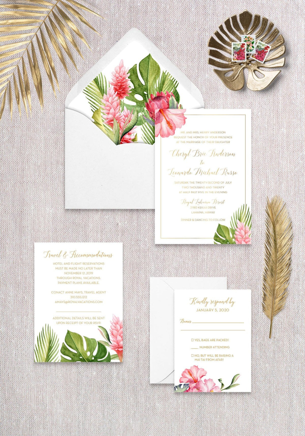 Tropical Floral (Set of 20)