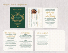 Load image into Gallery viewer, Tropical Monogram Passport Invitation