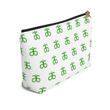 Load image into Gallery viewer, Arbonne Logo Pattern Accessory Pouch w T-bottom