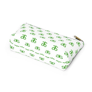 Arbonne Logo Pattern Accessory Pouch w T-bottom