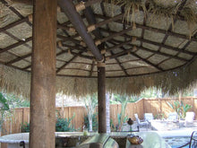 Load image into Gallery viewer, 2 Post Oval Palapa Umbrella Kit 12' x 18' - Palapa Umbrella Thatch Company Online