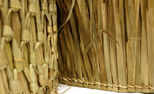 "Mexican Palm Tiki Thatch Runner Roof Roll 48""x 3' - Palapa Umbrella Thatch Company Online"