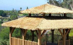 C5 Synthetic Artificial Thatch Panel F/R - Palapa Umbrella Thatch Company Online