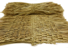 "Load image into Gallery viewer, Mexican Tiki Palm Thatch Ridge Cap Roll 30""x 7' - Palapa Umbrella Thatch Company Online"