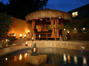 Mexican Palm Thatch Palapa Umbrella Top Cover 15ft - Palapa Umbrella Thatch Company Online