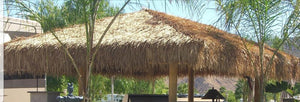 "Mexican Palm Tiki Thatch Runner Roof Roll 36""x 8' (6 Pack) - Palapa Umbrella Thatch Company Online"