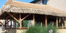 "Load image into Gallery viewer, Mexican Tiki Palm Thatch Ridge Cap Roll 30""x 4' - Palapa Umbrella Thatch Company Online"