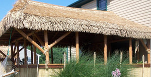 "Mexican Tiki Palm Thatch Ridge Cap Roll 30""x 15' - Palapa Umbrella Thatch Company Online"