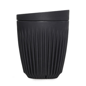 8oz  Single Unit Packaging (Cup and Lid)(Charcoal)