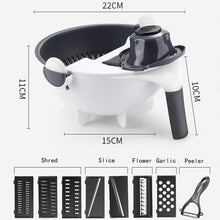 Load image into Gallery viewer, Multifunctional 9 in 1 Vegetable Cutter With Drain Basket