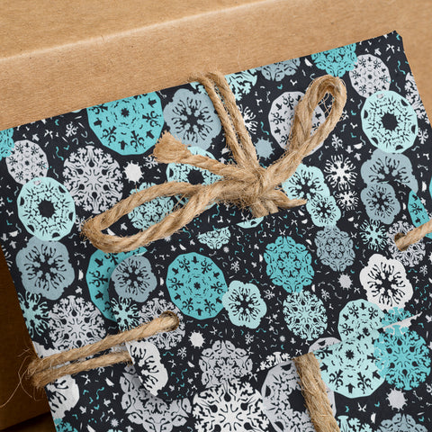 snow pattern for gift papers digital download