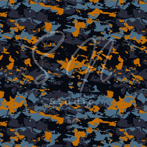 Camouflge vibe Abstract Sunset surface