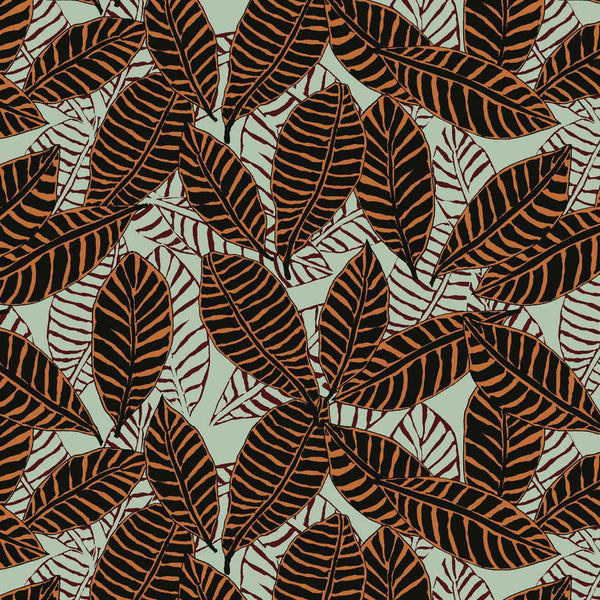 African Vibe Leaves semless pattern available for licensing from Susanna Nousiainen Studio