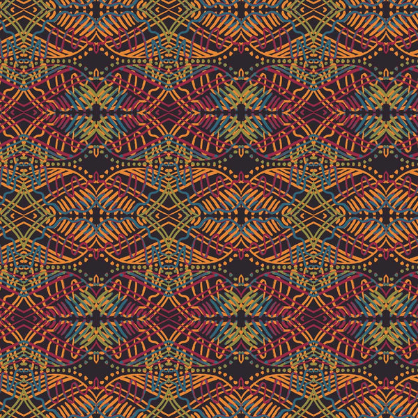 African Geo red tones surface pattern design from Susanna Nousiainen studio