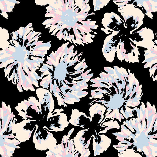 Big Flowers asian style flower design for womens clothing available for licensing