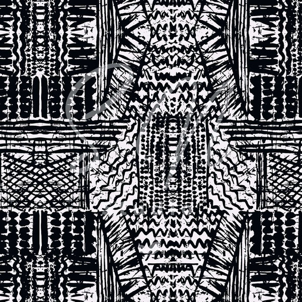 Black and White Tribal Geo pattern surface