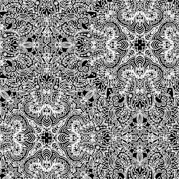 The best seamless black and white Paisley Pattern