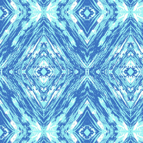 Blue tones with white Geometric Surface print design