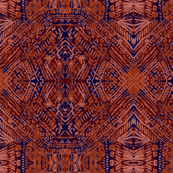 Breeze Tribal Geo surface pattern in red tones