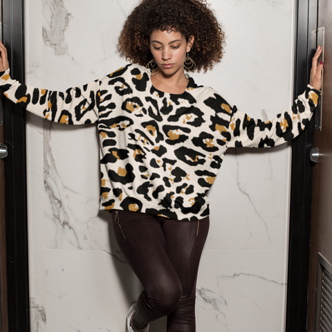 Browntone Leopard patter on a sweater