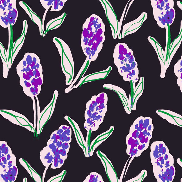 Lilac Flowers surface design available for licensing
