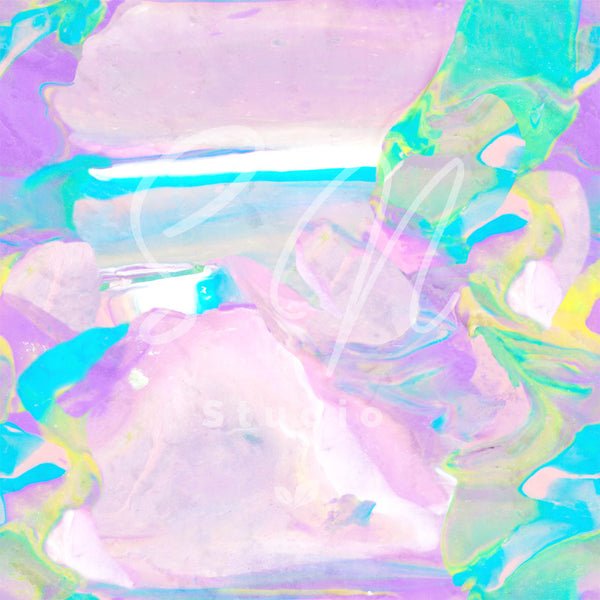 Green and purple tone pastel marble surface design print for accessories and clothing