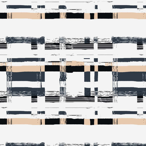 Plaid Check black and white surface design