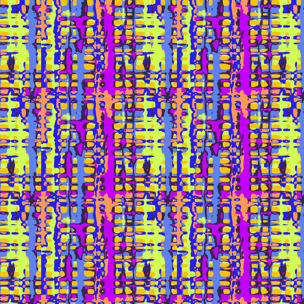 Rainbow Gingham surface available for licensing