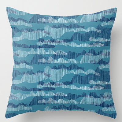 Blue print feature of scandinavian vibe patterns on print and pattern blog