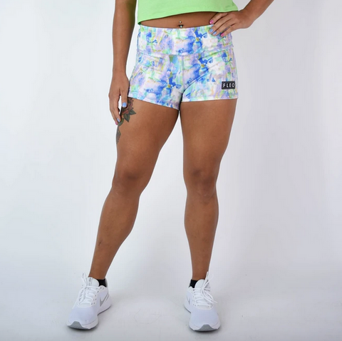 Spotted surface pattern blue design on sport shorts
