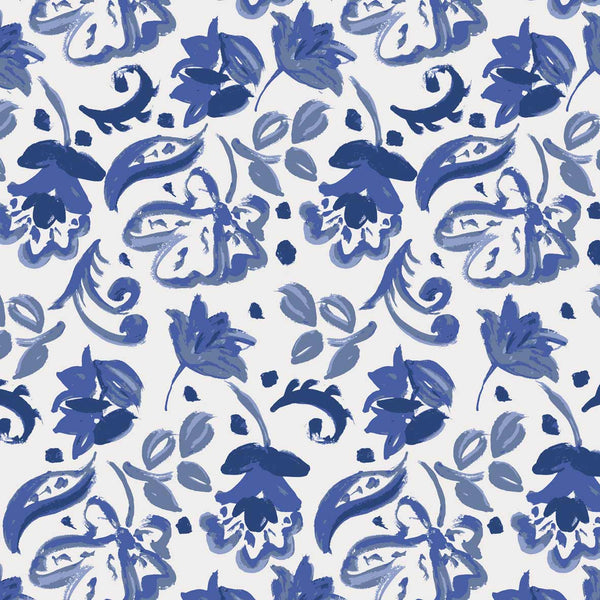 Sketched painted paisley pattern for fshion brand or statonery projects