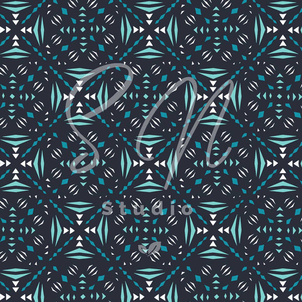 Snowland blue surface pattern design availablefor licensing