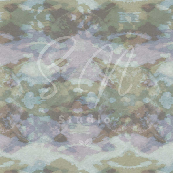 Tiedye camo green tones surface available or licensing