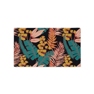 Rectangle throw pillow case with 90s vibe vintage tropical print