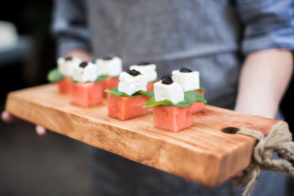 Watermelon and feta appetizers - The Cheese School catering