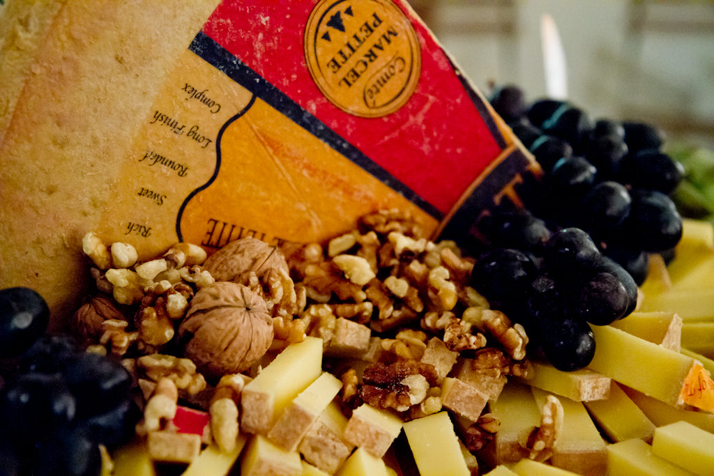 Cheese<br/>Carefully selected cheeses served with dried fruit and nuts<br/>photo by Sita Kuratomi Bhaumik