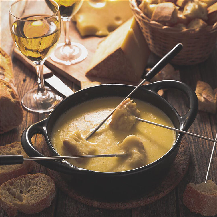 cheese fondue with wine pairing at The Cheese School of San Francisco