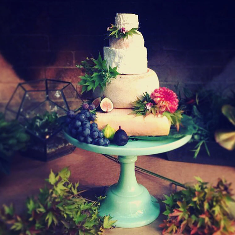 the coolest wedding cake ever, by The Cheese School of San Francisco
