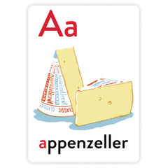 Alphabet Greeting Cards - A is for Appenzeller
