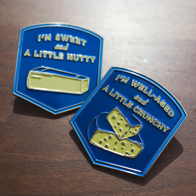 Cheesy Enamel Pins