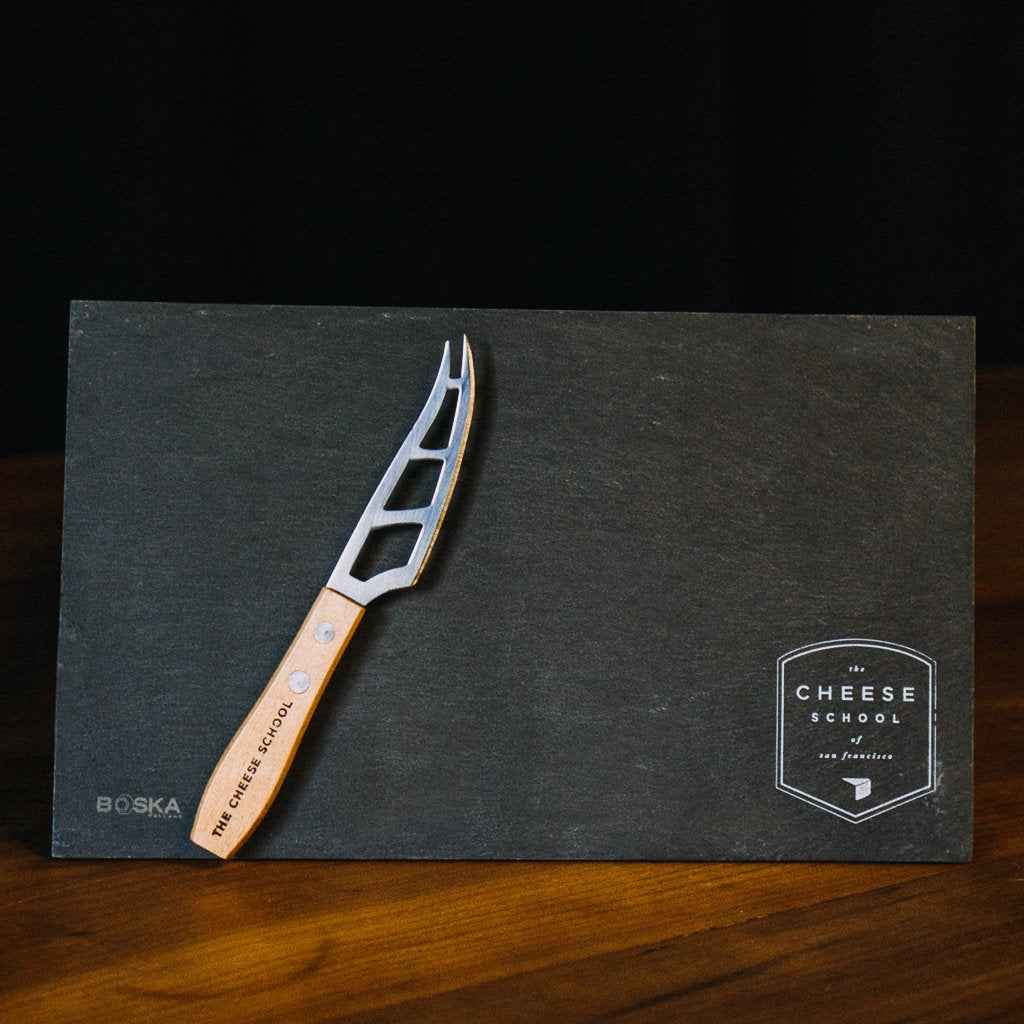 Cheese Slate Board + Knife Set